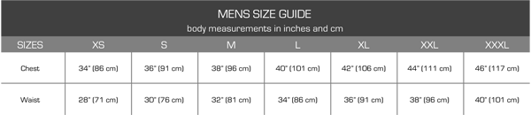 womens rowing size chart