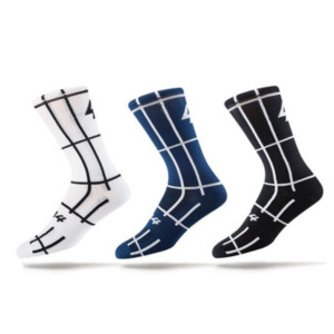 grid cycling socks